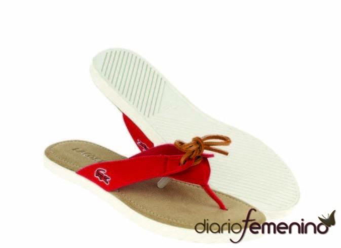 Sandalias estilo marinero de Lacoste