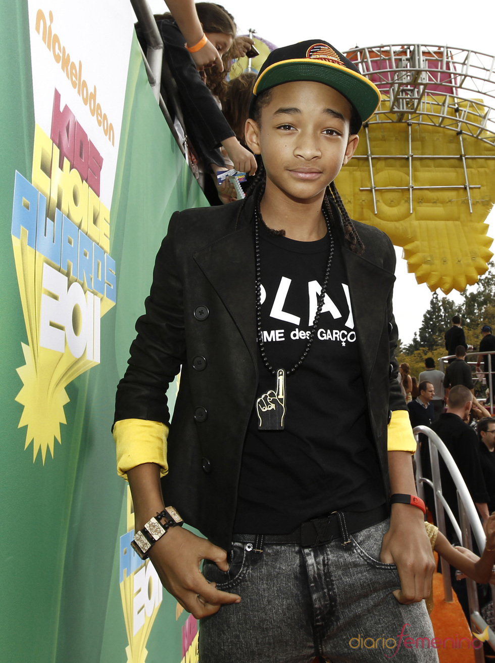 Jaden Smith en la alfombra roja de los Kids' Choice Awards
