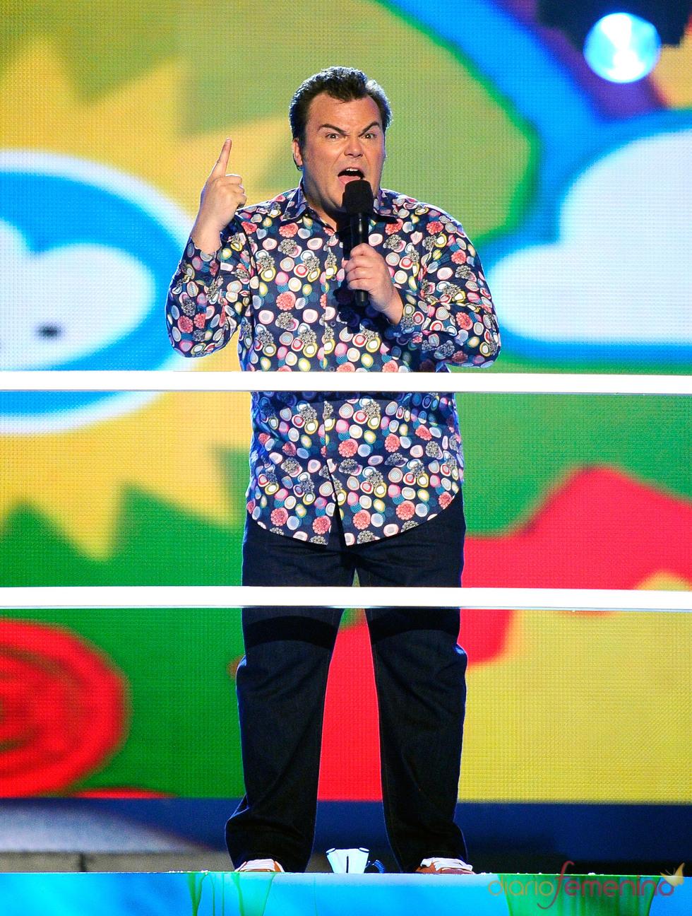 Jack Black en la gala de los Kids' Choice Awards