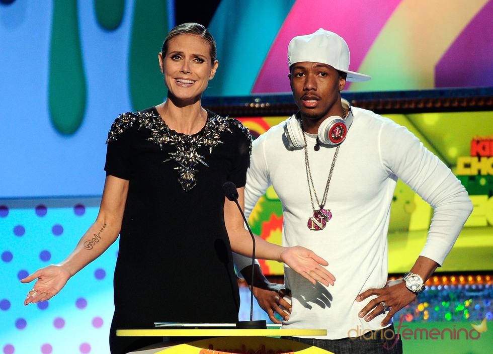 Heidi Klum y Nick Cannon en la gala de los Kids' Choice Awards