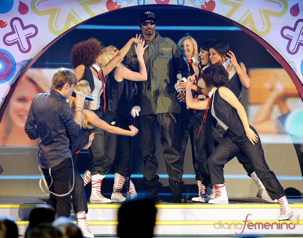 Snoop Dogg durante su actuación en los Kids' Choice Awards