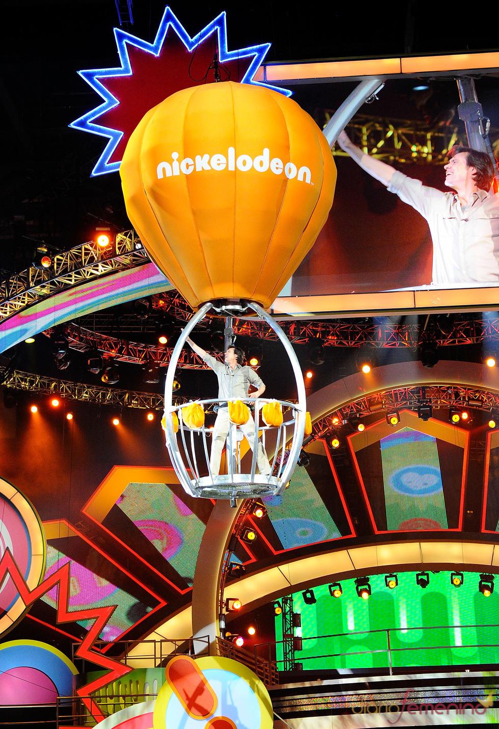 Jim Carrey en la gala de los Kids' Choice Awards