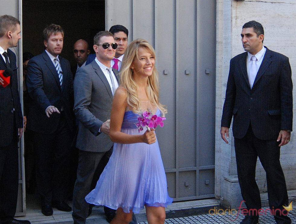 Michael Bublé y Luisana Lopilato en su boda civil