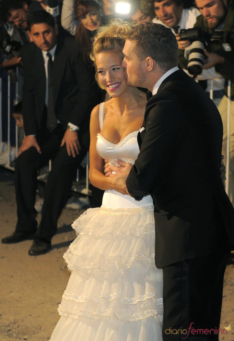 Michael Bublé y Luisana Lopilato felices en su boda religiosa