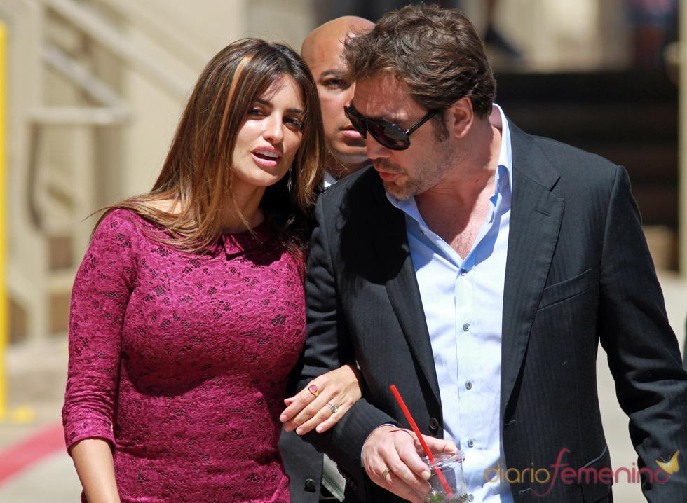 Penélope Cruz y Javier Bardem llegan juntos al Paseo de la Fama