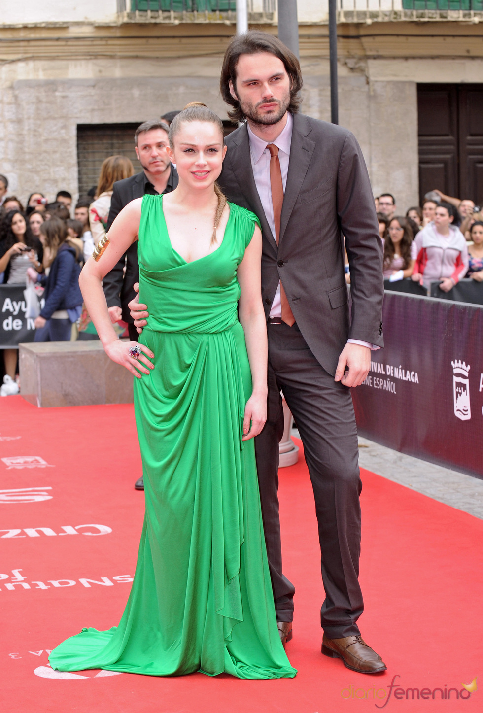 Carla Nieto y Roberto Hoyas en la clausura del Festival de Cine de Málaga 2011