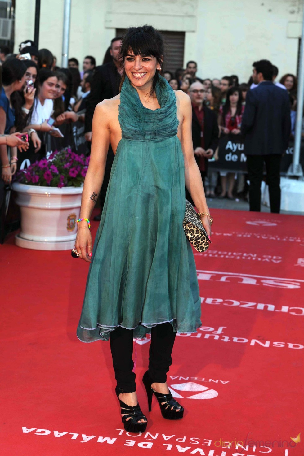 La cantante Bebe en el Festival de Cine de Málaga 2011
