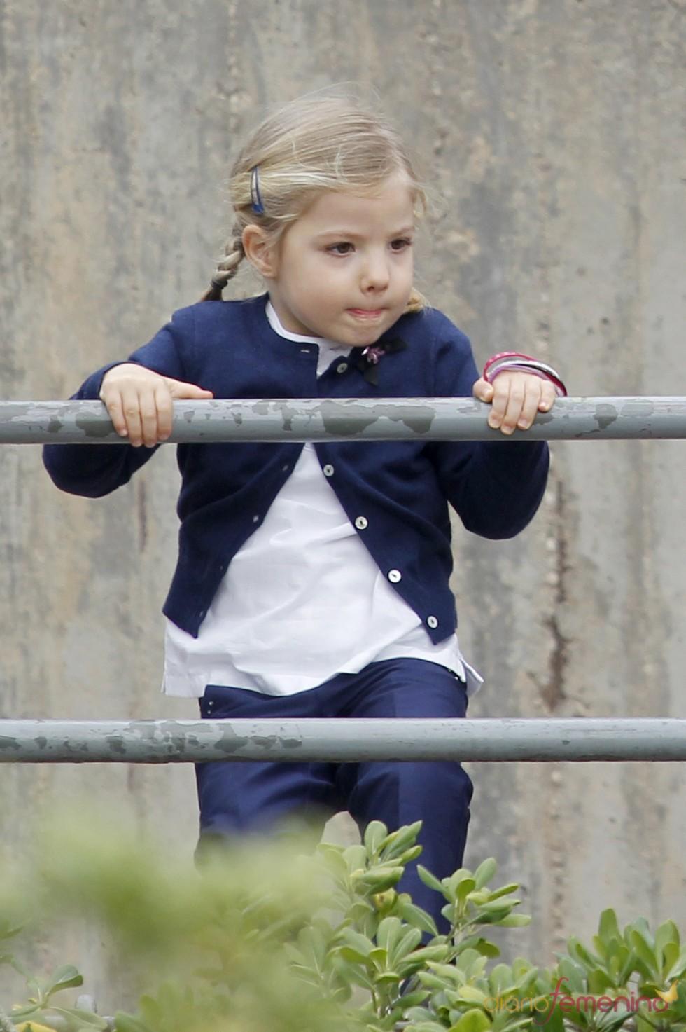 La Infanta Sofía en el zoo de Madrid