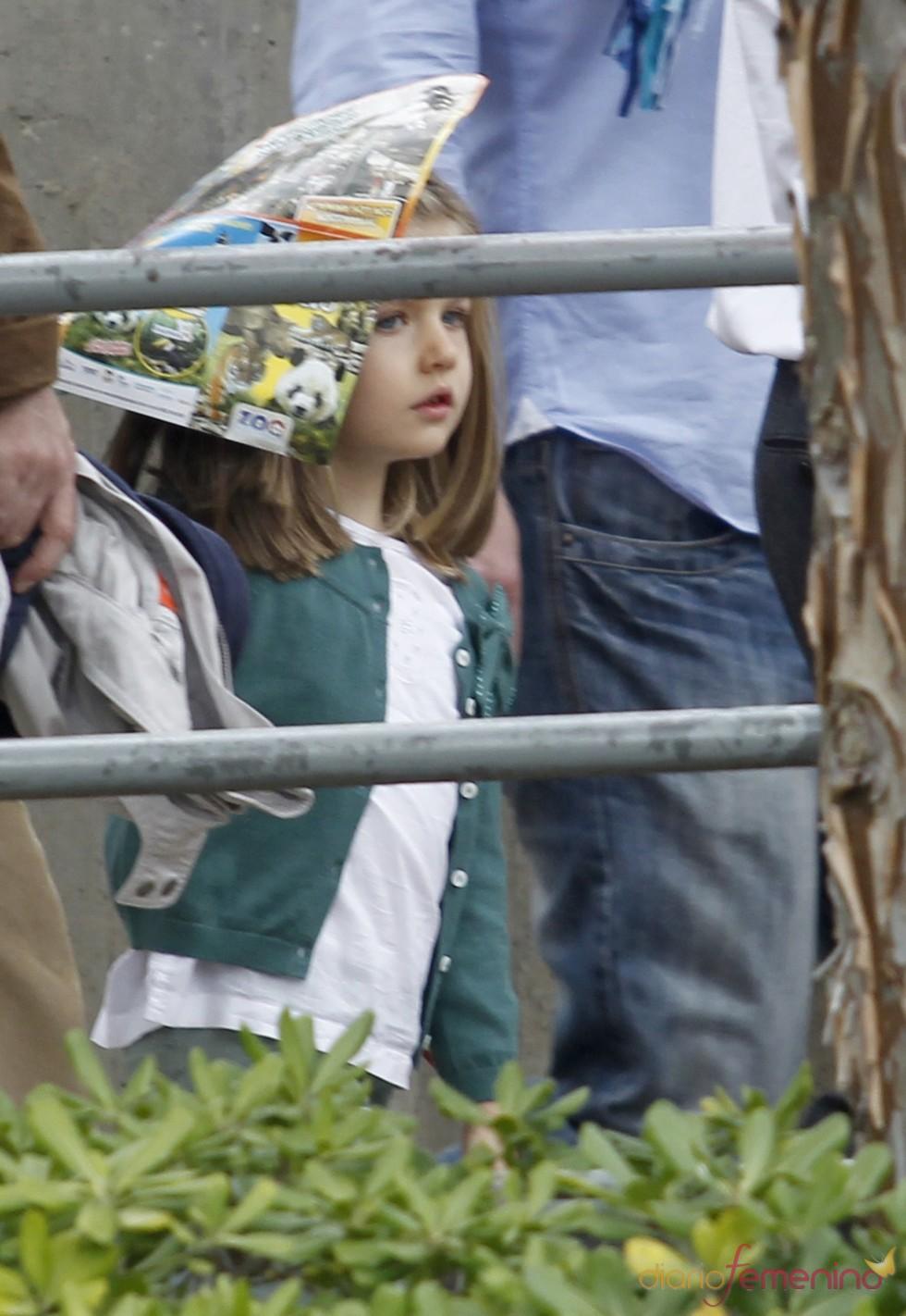La Infanta Leonor en el zoo de Madrid