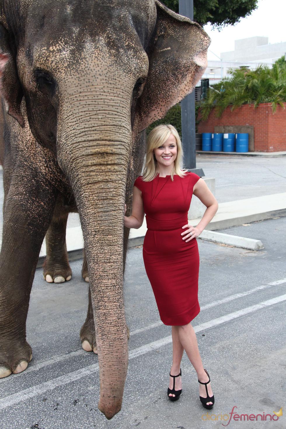 Reese Whiterspoon presenta 'Agua para elefantes'