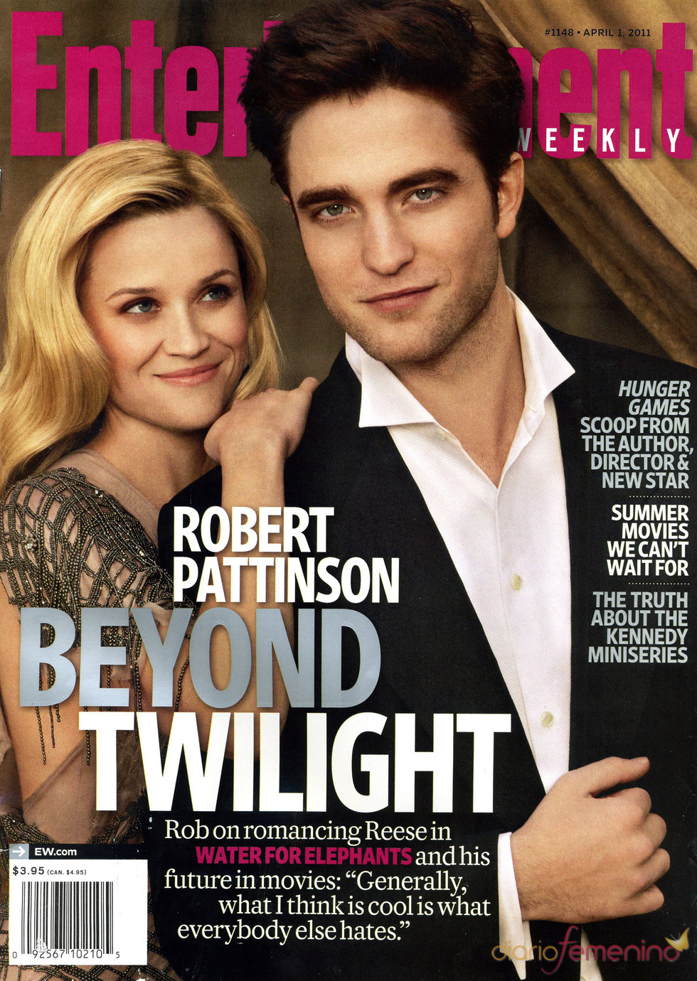 Robert Pattinson y Reese Witherspoon en la portada de 'Entertaiment Weekly'