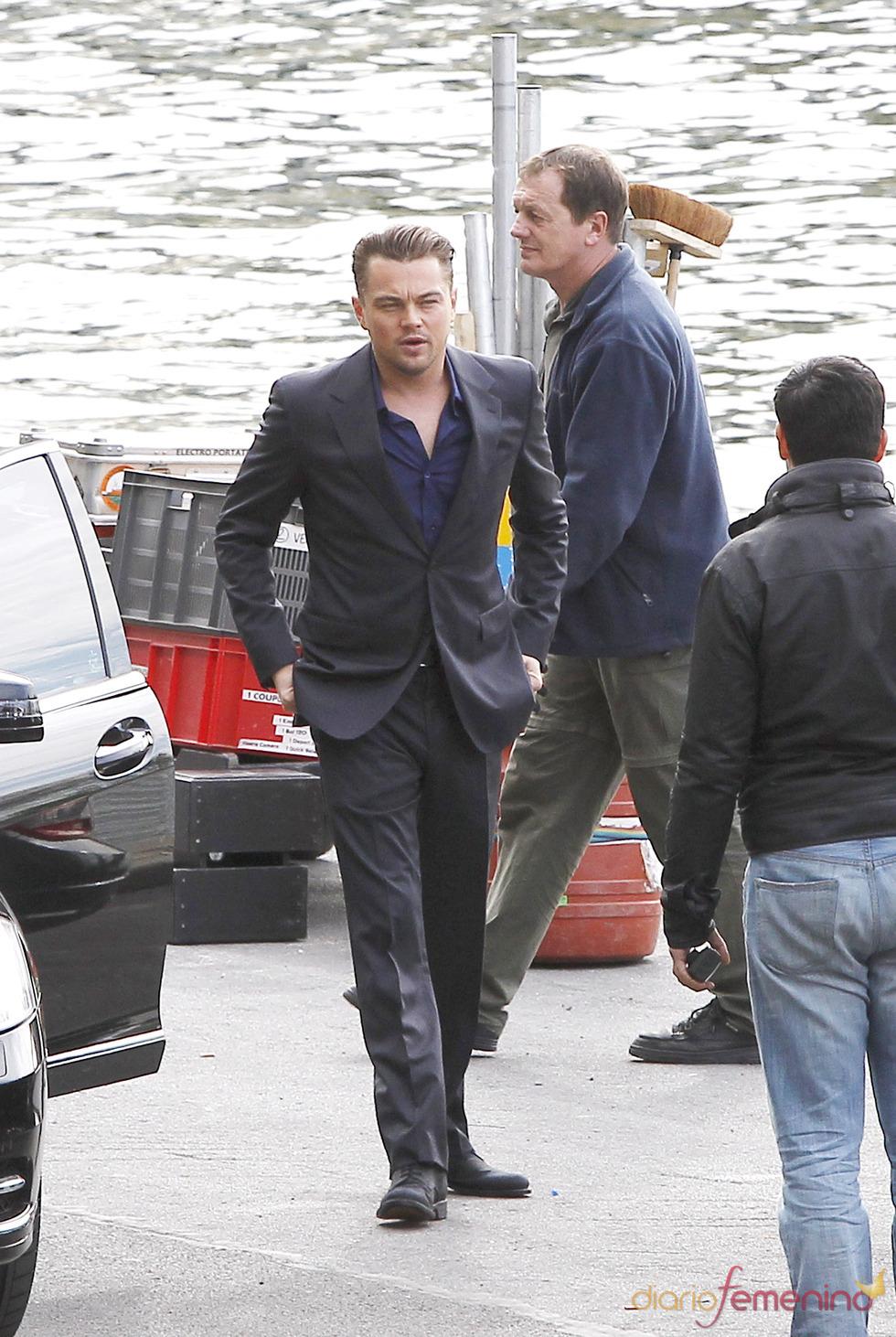 Leonardo DiCaprio rueda un anuncio de móviles en París