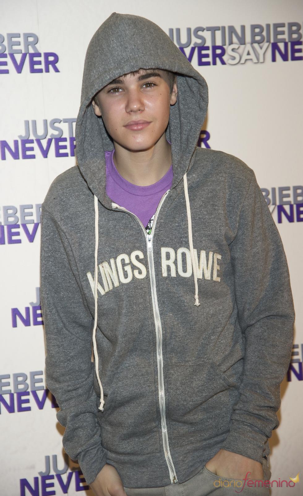 Justin Bieber en el photocall antes de su concierto en Madrid