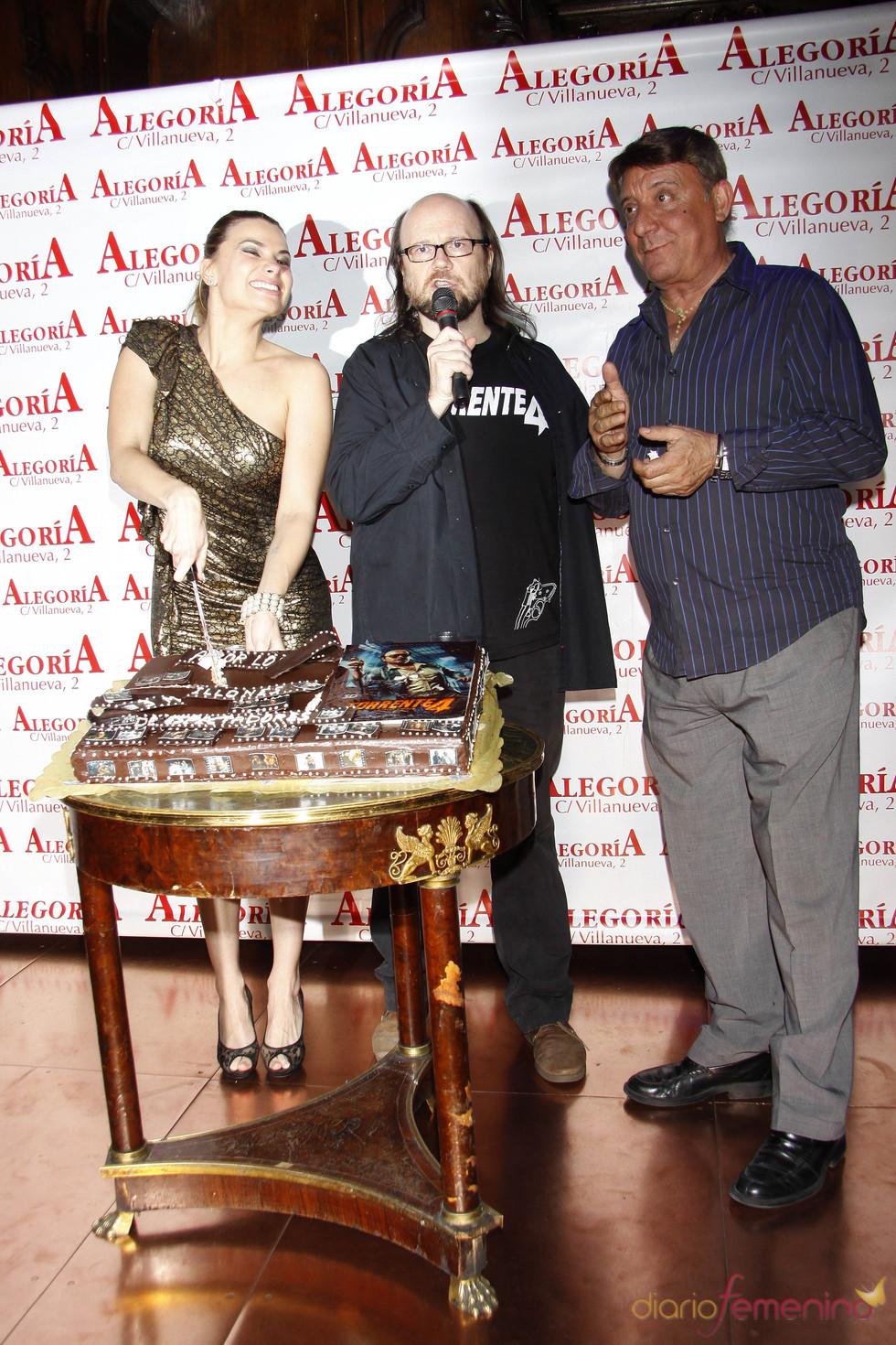 María La Piedra, Santiago Segura y El Dioni en la fiesta de 'Torrente 4'