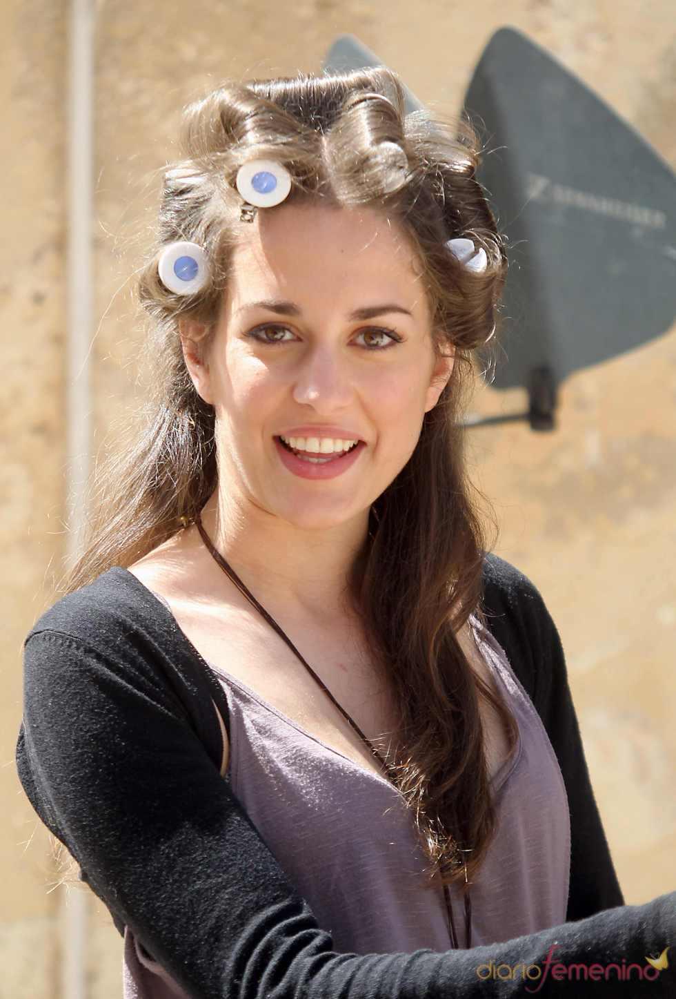 Silvia Alonso en el rodaje de 'Tierra de Lobos'