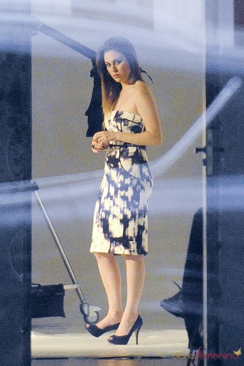 Blanca Suárez durante una sesión fotográfica