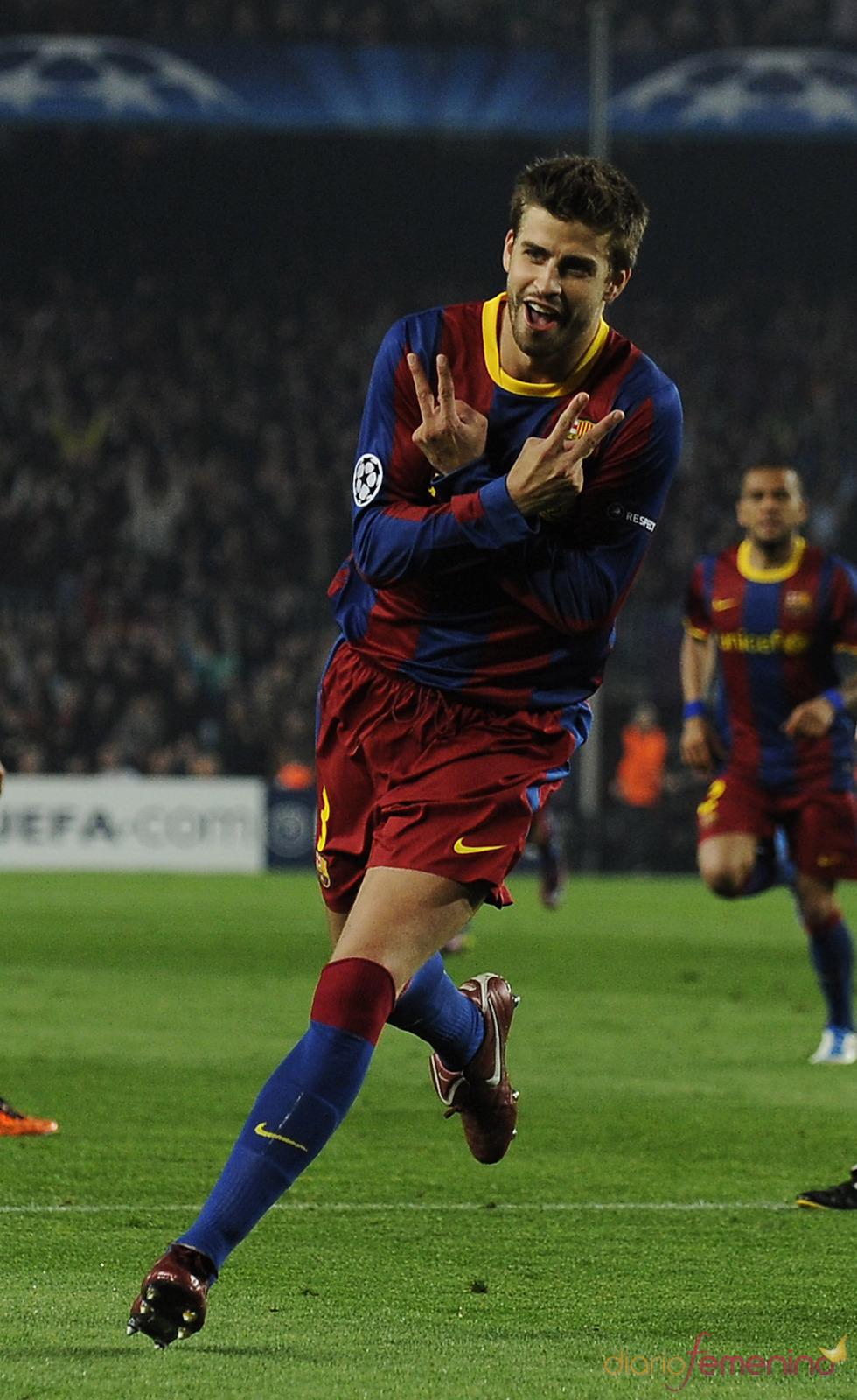Gerard Piqué dedica su gol a Shakira