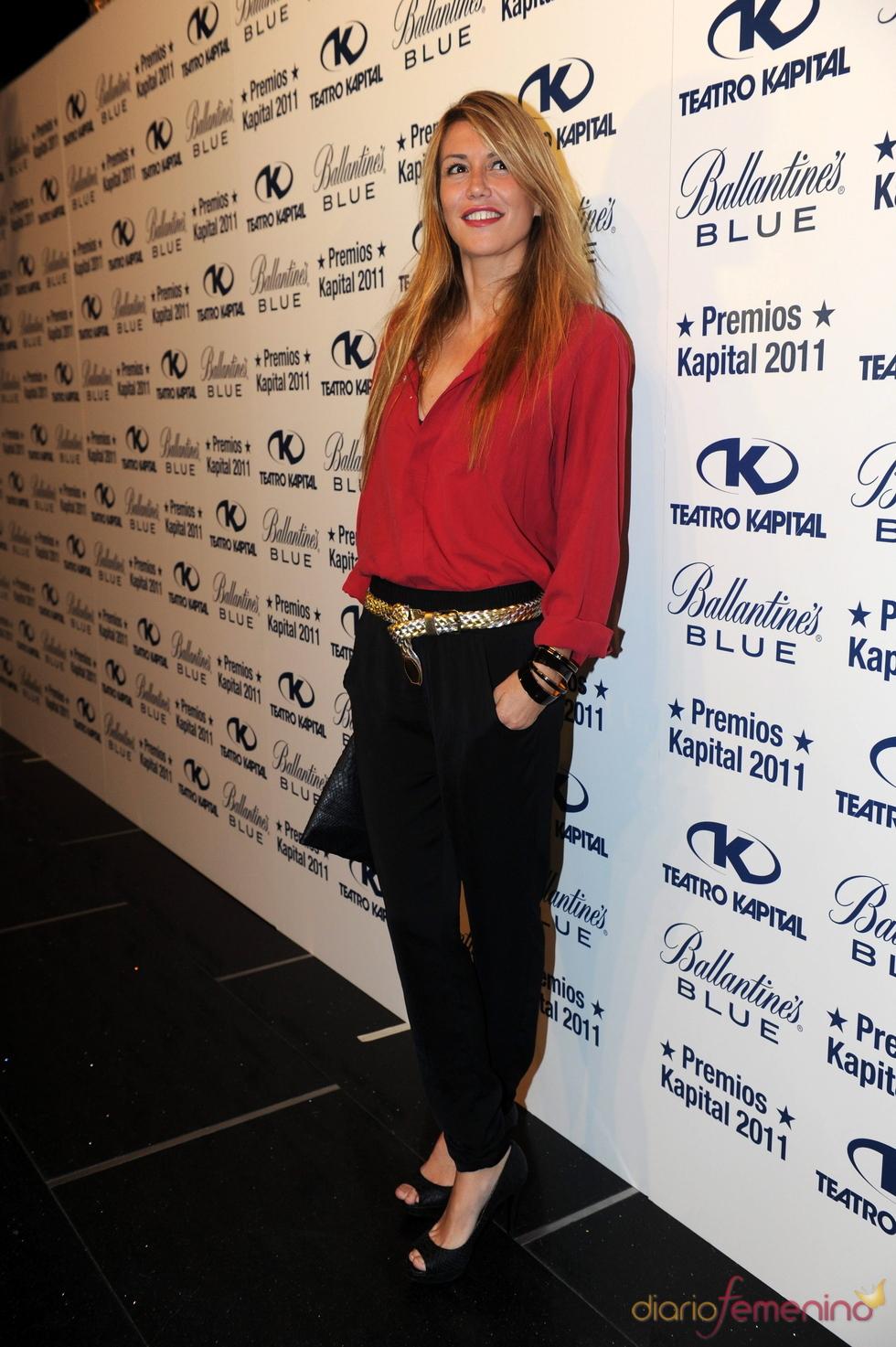 Raquel Meroño posando en los Premios Kapital 2011