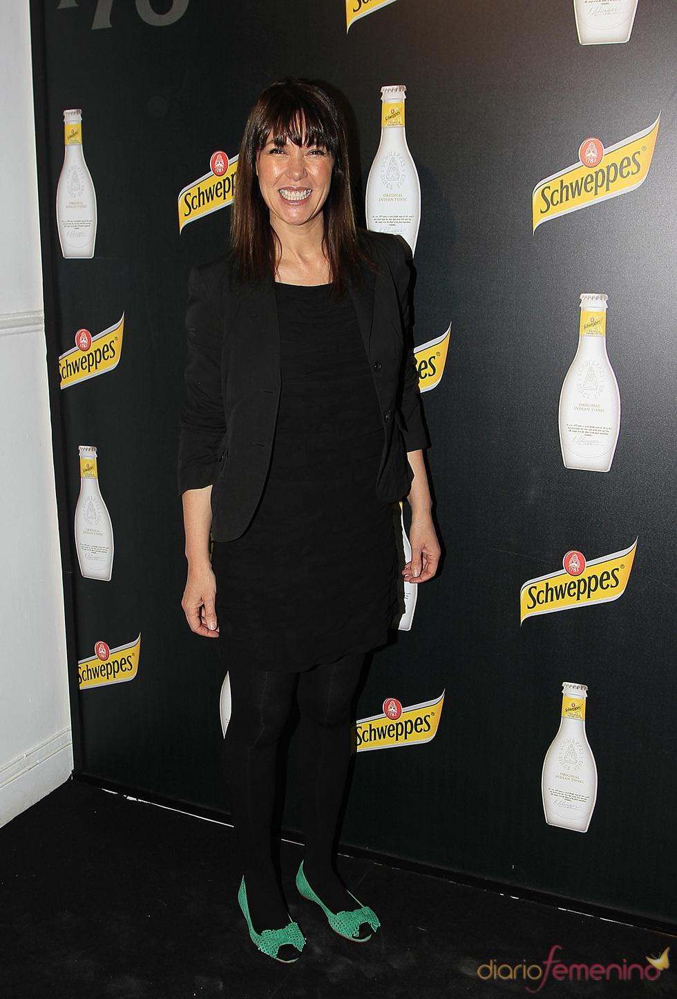 Mabel Lozano en el acto de presentación de una bebida refrescante