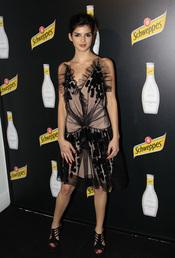 Clara Lago en el acto de presentación de una bebida refrescante