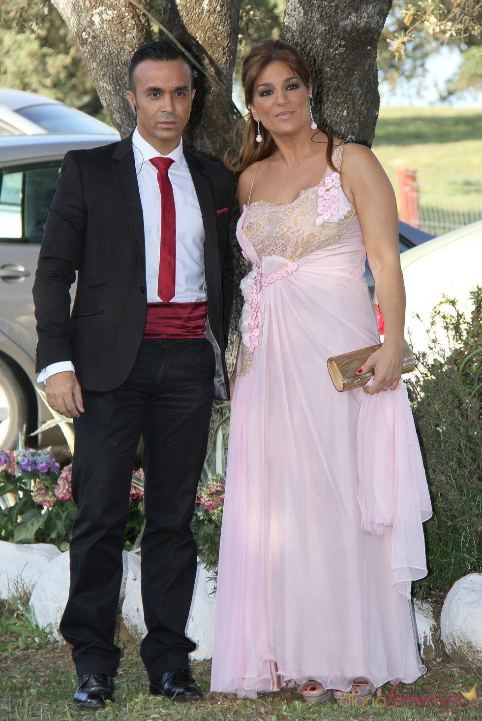 Raquel Bollo y Luis Rollán en la boda de Chayo Mohedano y Andrés