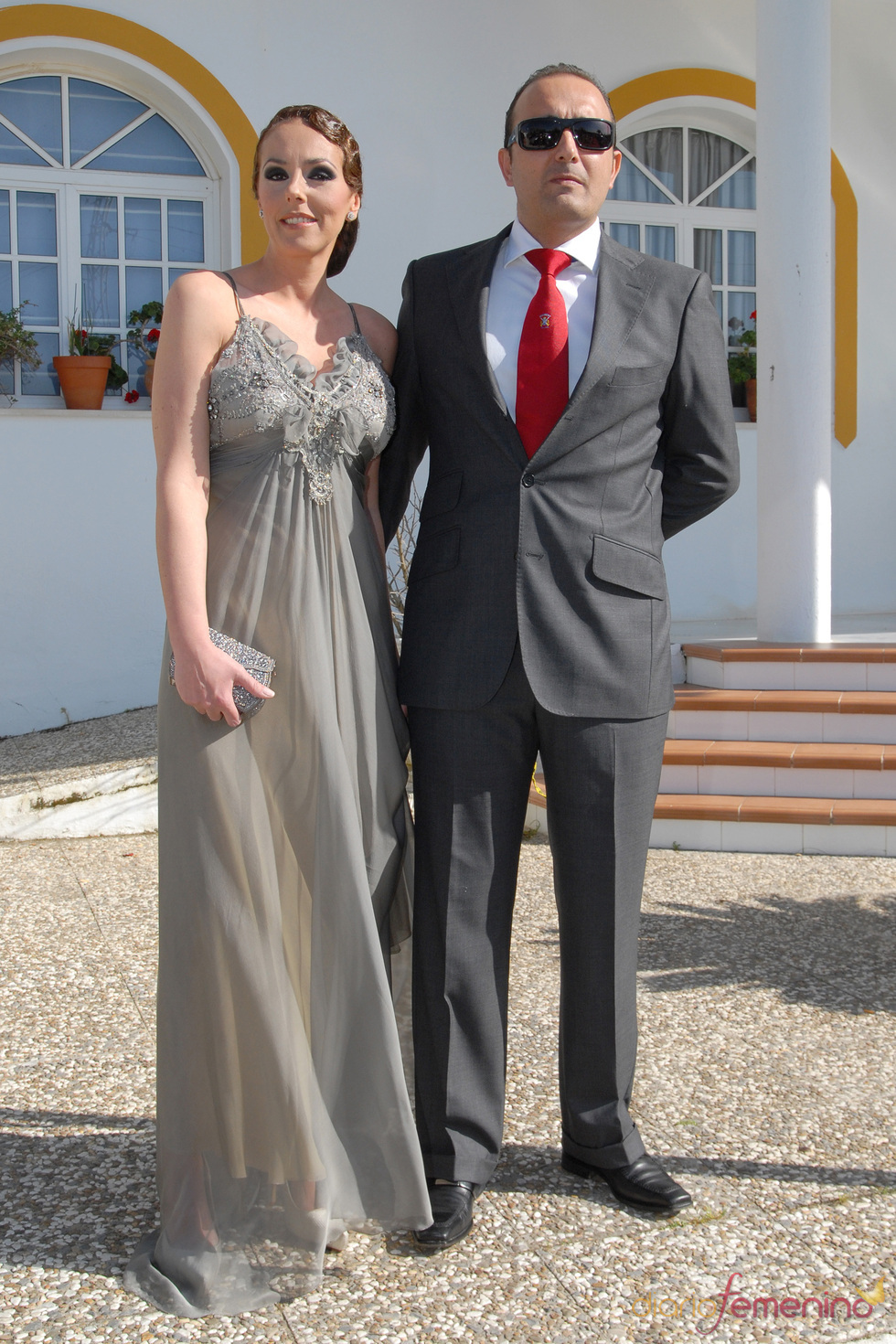 Rocío Carrasco y Fidel Albiac en la boda de Chayo Mohedano y Andrés