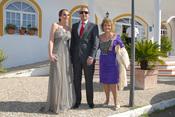 Rocío Carrasco, Fidel Albiac y María Teresa Campos en la boda de Chayo Mohedano y Andrés