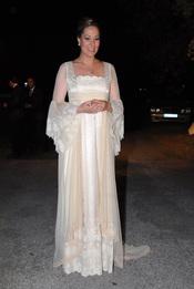 Chayo Mohedano luce un vestido de Aurora Gaviño el día de su boda