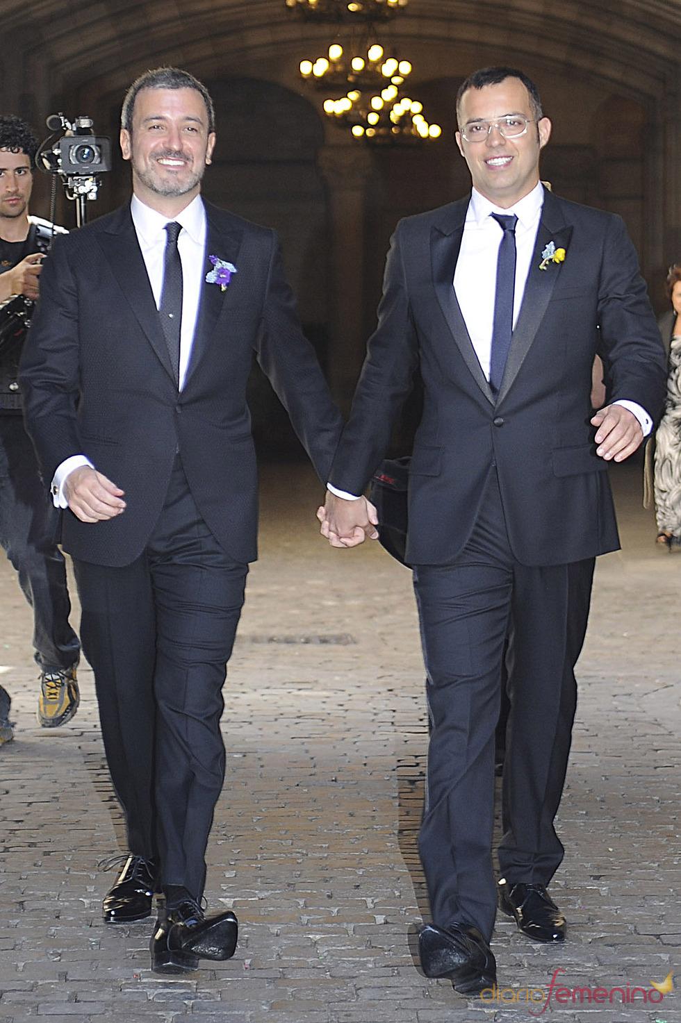 ¡Qué vivan los novios!: Oscar Cornejo y Jaume Collboni recién casados