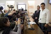 Antonio Banderas posa para los medios en la Semana Santa de Málaga