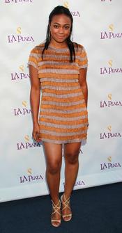 La actriz Tatyana Ali en la Gala Inaugural de la Plaza de la Cultura y las Artes