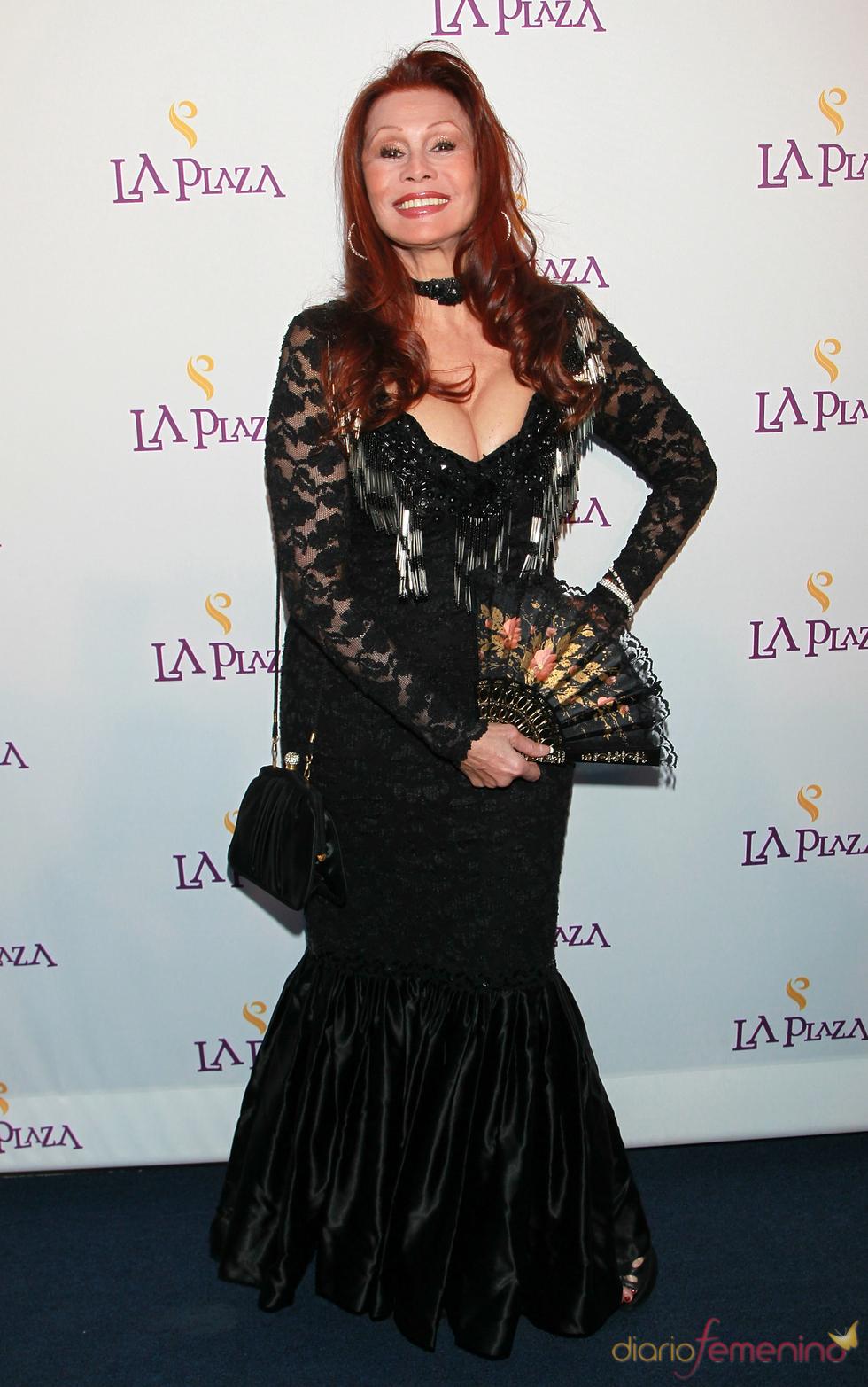 La actriz Barbara Luna en la Gala Inaugural de la Plaza de la Cultura y las Artes