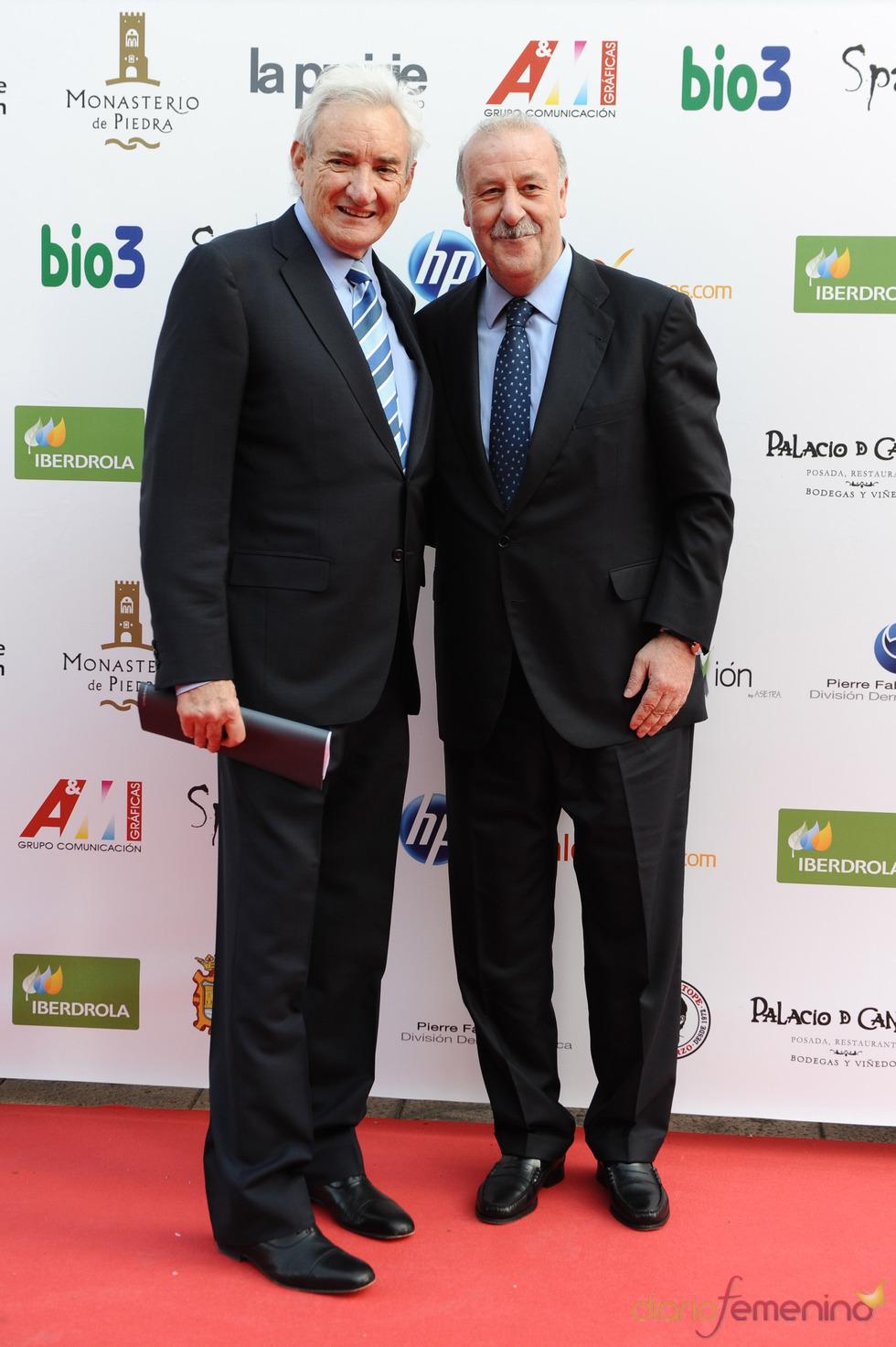 Luis del Olmo y Vicente del Bosque juntos en los Micrófonos de Oro 2011