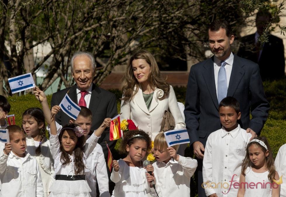 Recibimiento de los Príncipes de Asturias en Israel