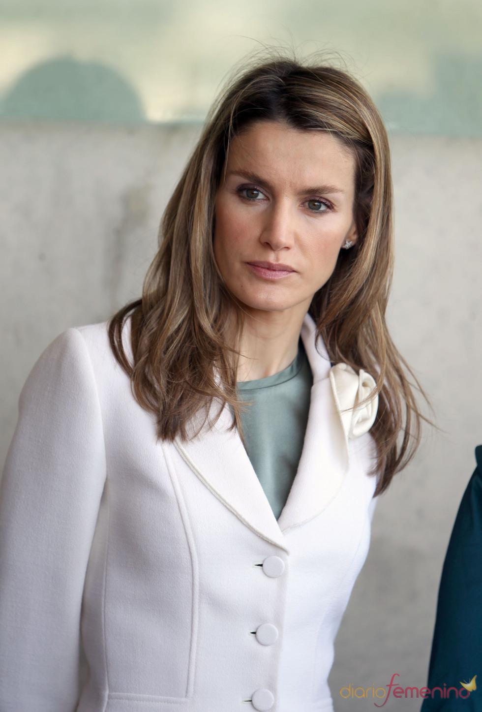 La Princesa Letizia, muy seria durante su visita a Israel