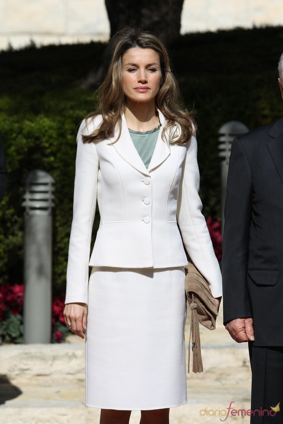 El 'look' de la Princesa Letizia durante su visita a Israel