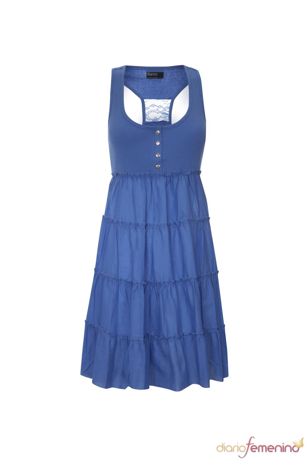Vestido playero en color azul de la primavera 2011 de Blanco