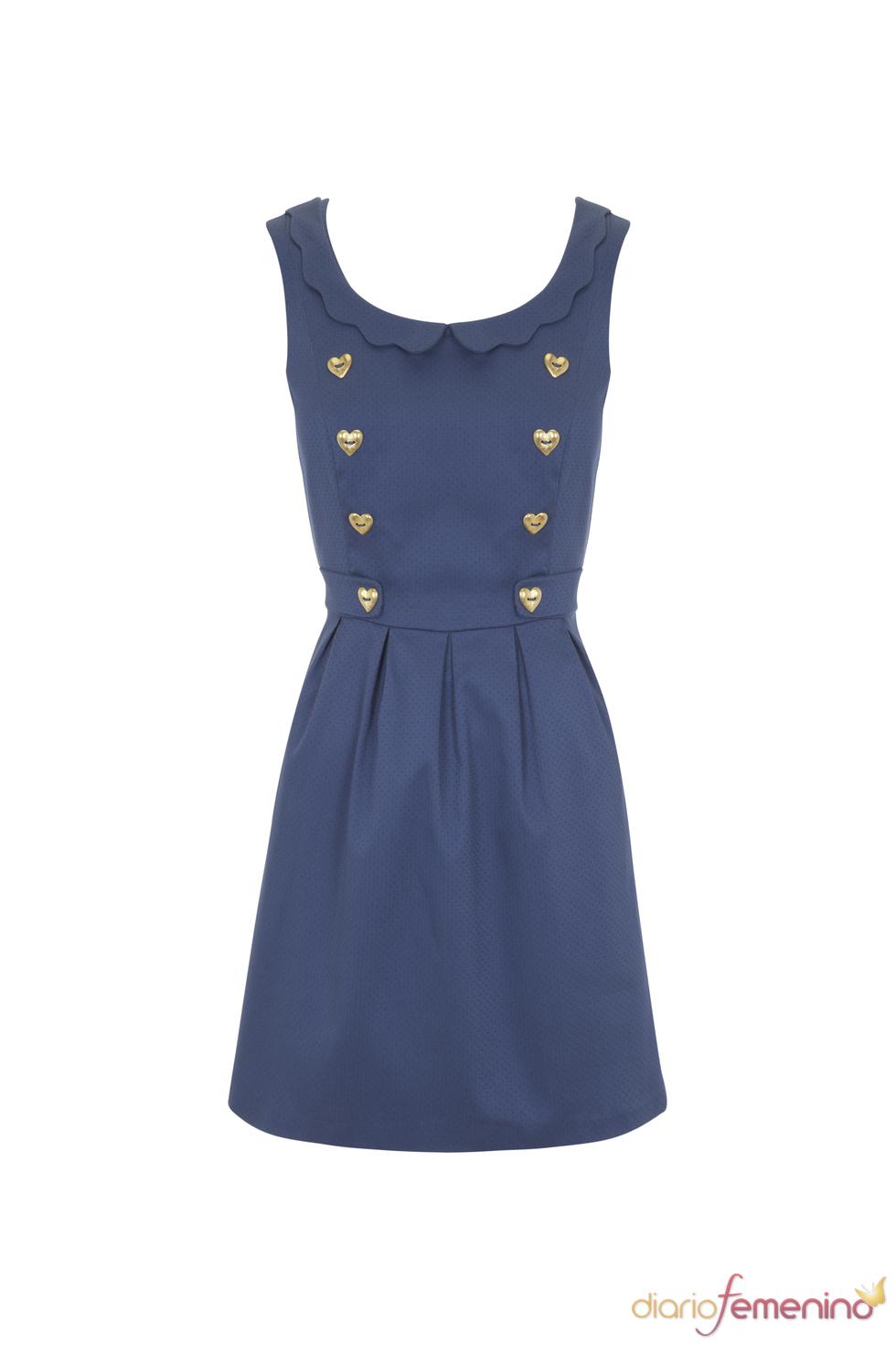 Vestido estilo pichi azul de la colección primavera 2011 de Blanco