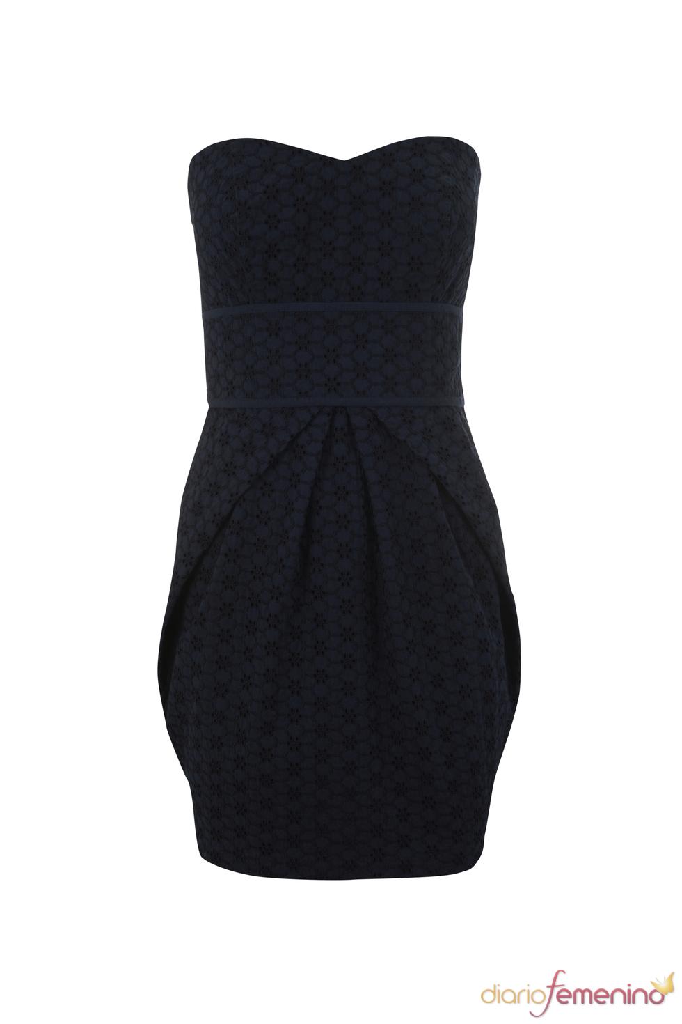 Vestido negro de palabra de honor de la colección primavera 2011 de Blanco