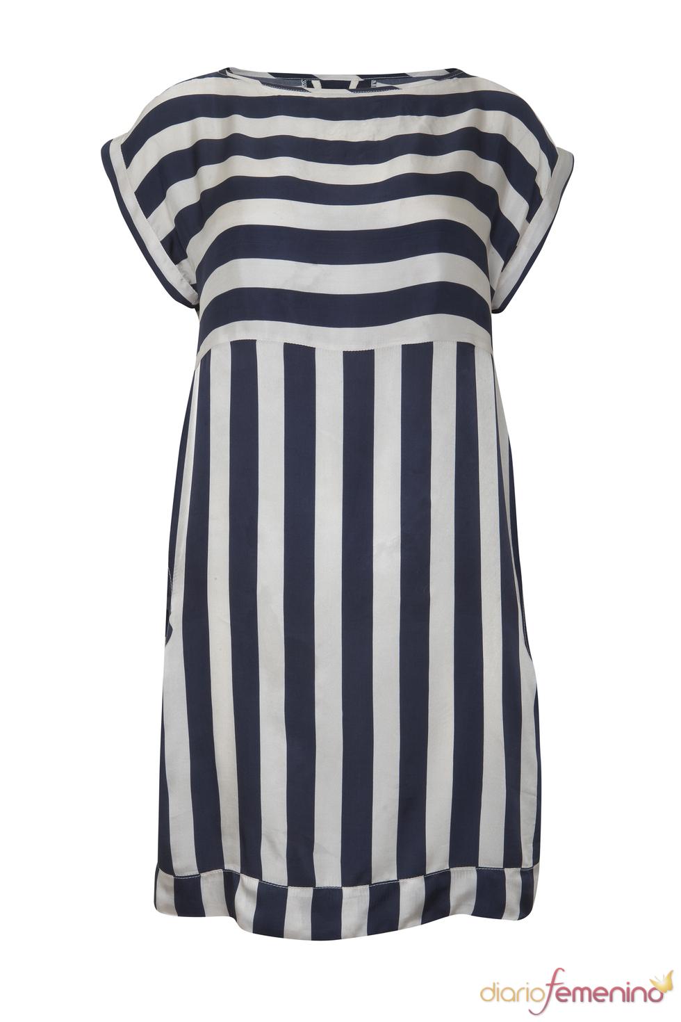 Vestido túnica marinero de la colección primavera 2011 de Blanco
