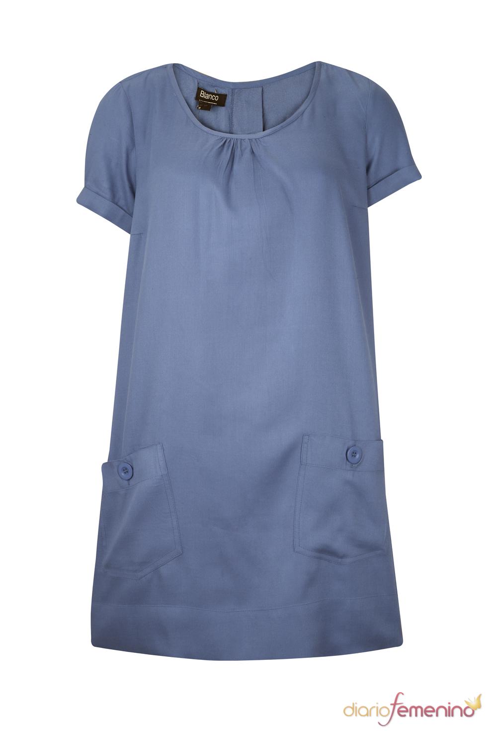 Vestido azul estilo túnica de la colección primavera 2011 de Blanco
