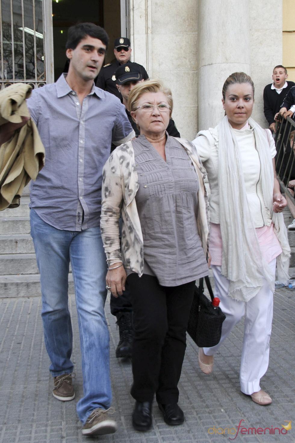 María José Campanario sale de los Juzgados de Sevilla