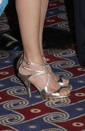 Sandalias escogidas por la Princesa Letizia para la cena de gala en Israel