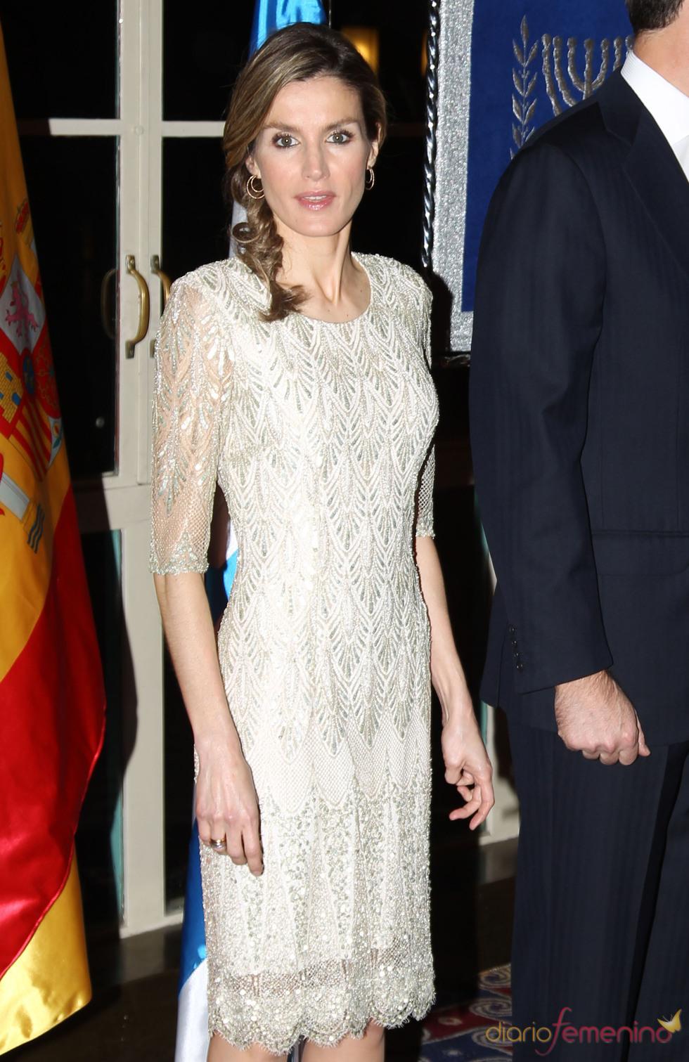 El 'look' de la Princesa Letizia en la cena de gala de Israel