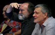 Rodolfo Ruiz y Vicente Cuesta durante una reunión