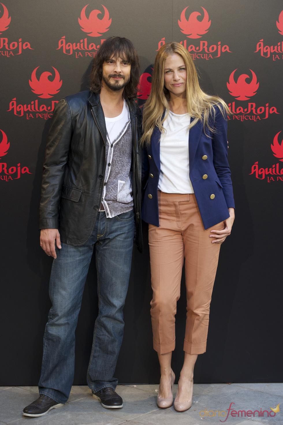 David Janer y Martina Klein en la presentación de 'Águila Roja, la película'