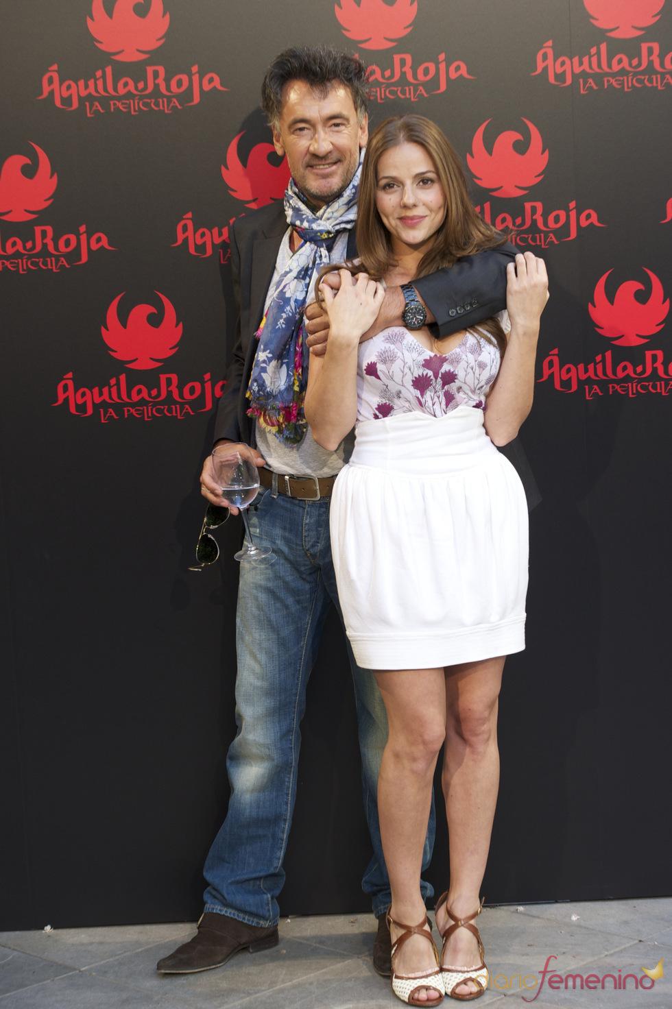 Francis Lorenzo y Miryam Gallego en la presentación de 'Águila Roja, la película'