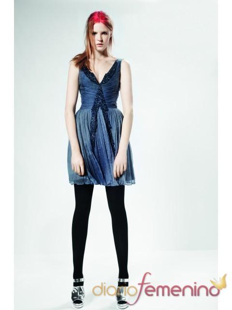 Vestido azul de gasa de Top Shop para la primavera 2011