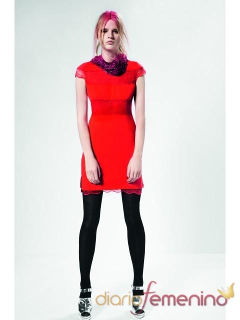 Vestido rojo con encaje para la primavera 2011 de Top Shop
