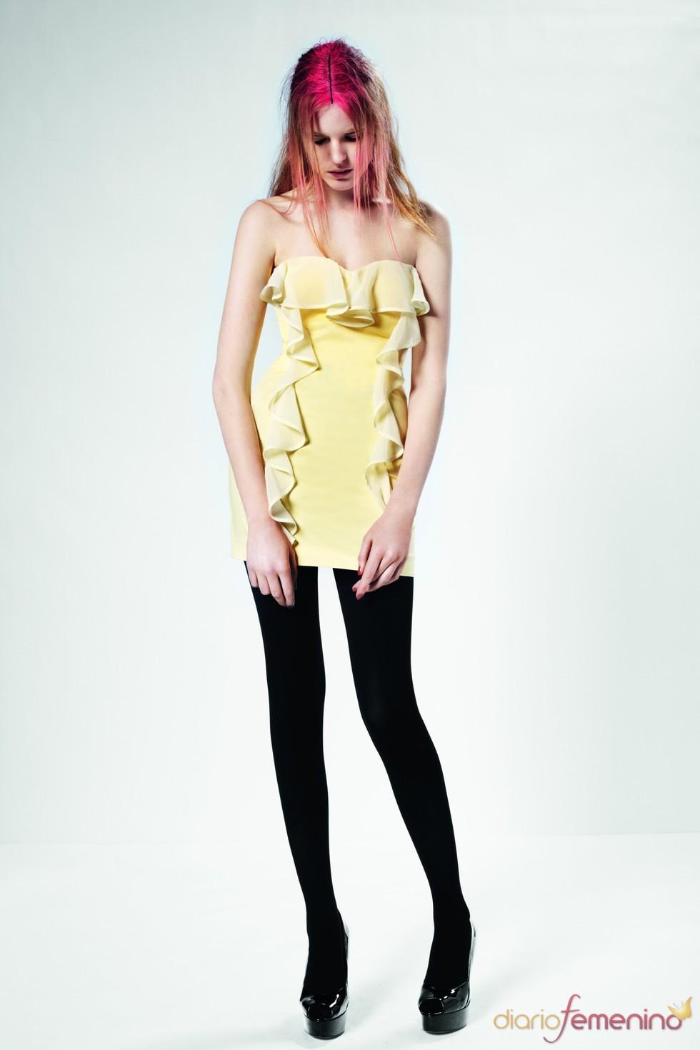 Vestido amarillo con volantes para la primavera 2011 de Top Shop